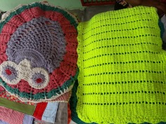 Artesanato em crochê feito por Ana Lúcia